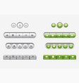 set of interface navigation buttons media buttons vector image vector image