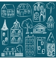 set sketched houses vector image vector image