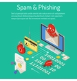 Spam and Phishing Isometric Concept vector image vector image