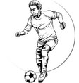 striker football player vector image vector image