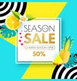 summer sale layout design template paper art vector image vector image