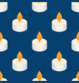 tea candle icon floating candle seamless pattern vector image vector image