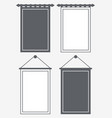 template blank pennant silhouette and outline vector image vector image