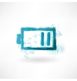 The battery is discharged Brush icon vector image