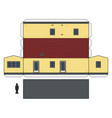 the paper model of a mobilhome vector image vector image