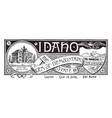 the state banner of idaho the gem of the mountain vector image vector image