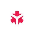 Three arrows logo form letter Y creative tech vector image