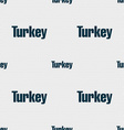 Turkey sign Seamless pattern with geometric vector image vector image