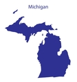 United States Michigan vector image vector image