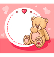 valentine teddy bear with sign vector image vector image