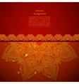 Vintage Indian Ornament vector image vector image