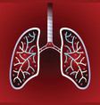 virus and bacteria infected human lungs vector image vector image