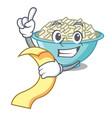 with menu rice bowl mascot cartoon vector image