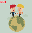 Worldwide service business concept - - EPS10 vector image vector image