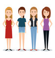 standing people set vector image