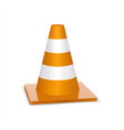 glossy traffic cone icon isolated on white for vector image