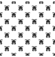 Japanese samurai mask pattern simple style vector image