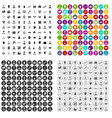 100 professional career icons set variant vector image vector image