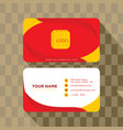 abstract geometry business card template vector image vector image