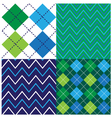 Argyle Design Set vector image vector image