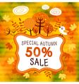 Autumn sales 02 vector image vector image