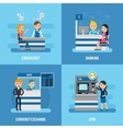 bank service flat concept