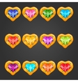 Big set with gem heart vector image vector image