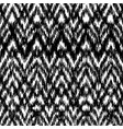 black and white seamless ikat ethnic pattern vector image
