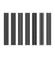 black tire tracks wheel car or transport set on vector image