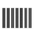black tire tracks wheel car or transport set vector image