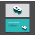 business card number 9 vector image vector image