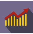Business graph icon flat style vector image vector image