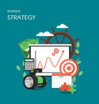 business strategy flat style design vector image vector image