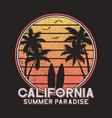 california slogan typography for design clothes vector image vector image