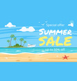 cartoon style summer sale banner vector image