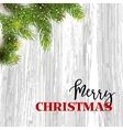 christmas card background with fir tree vector image vector image