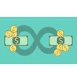 Circulation of money concept vector image
