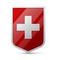 coat arms switzerland vector image vector image