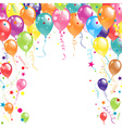 Color beautiful party balloons vector image vector image