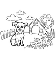 Coloring book with dogs vector image