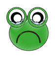 comic frog character icon vector image vector image
