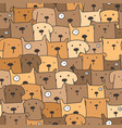 cute dog seamless pattern background vector image vector image