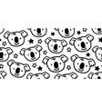 cute koala australia scandinavian seamless pattern vector image vector image