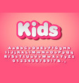 cute pink letters vector image vector image