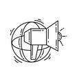 ecommerce digital marketing icon hand drawn icon vector image