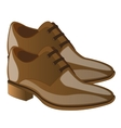 Fashionable male loafers vector image vector image