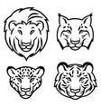 feline stylized vector image vector image