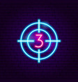 film countdown neon sign vector image