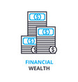 financial wealth concept outline icon linear vector image