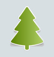fir-tree sticker with shadow christmas tree happy vector image vector image